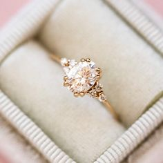 Juno Ring with White Moissanite