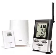 Oregon Scientific Wireless Rain Gauge Weather Station with Thermometer Our Newest Wireless Rain Gauge with Outdoor Temperature and Ten Day Memory is our Oregon Weather, Weather Center, Weather Instruments, Rain Gauge, Boutique Deco, Ace Hardware, Battery Operated, Digital Alarm Clock, Gauges