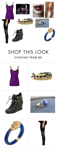 """Vampire Diaries (OC)"" by justinegeib ❤ liked on Polyvore featuring Giuseppe Zanotti, Van Cleef & Arpels and American Apparel"