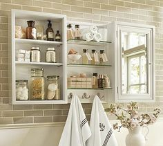 Modular Wall Storage #potterybarn  This will be perfect in the narrow spot behind my bathroom door!