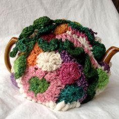 Freeform Crochet tea cozy Vine fits a 46 by 2SistersStringworks, $50.00
