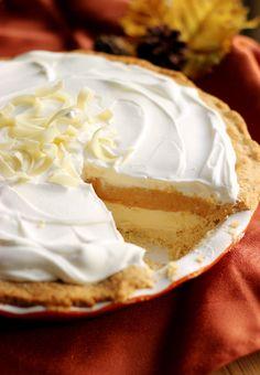 Culinary Couture: White Chocolate Pumpkin Cream Pie #Choctoberfest