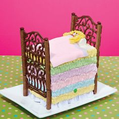 The Princess and the Pea Cake  Fairy tales can come true with this sweet rendition of the extra-sensitive princess and her super-tall bed. Despite the cake's magical appearance, you won't lose sleep worrying about making it!