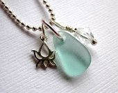 Seaglass :      Necklace Lotus