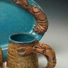 Wortman Pottery ,Duson LA Louisiana Crawfish, Pottery, Indoor, Mugs, Tableware, Design, Ceramica, Interior, Dinnerware