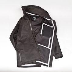 Eiger watererproof field jacket with wool facing by Mission Workshop