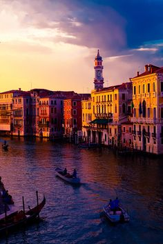 Venice at Sunset by Vojkan Milosev - Explore the World with Travel Nerd Nici, one Country at a Time. http://TravelNerdNici.com