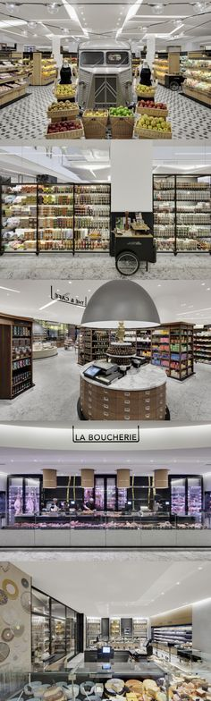 La Grande Epicerie - Bon Marche Paris Gather picnic supplies and wander to jardin lux Retail Interior Design, Retail Store Design, Retail Shop, Marketing Visual, Guerilla Marketing, Design Commercial, Commercial Interiors, Café Restaurant, Restaurant Design