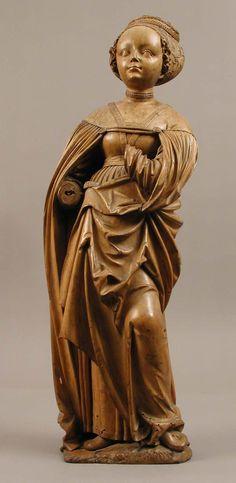 Saint Barbara.  Date:     ca. 1510. Culture:     German. Medium:     Limewood.