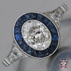 Art Deco Engagement Ring - EGL Certified
