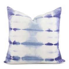 shibori velvet pillow tie-dye purple lavender blue kevin o'brien studios