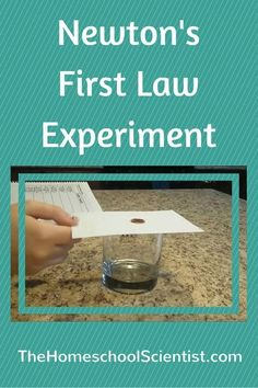 CC Cycle 2 Week 16 DEMONSTRATION/EXPERIMENT (Science- Newton's First Law of Motion)- Don't be intimidated by scientific laws. They are simple rules that tell how the universe works. This Newton's first law of motion experiment shows just how simple. Science Classroom, Teaching Science, Science Education, Science Room, Outdoor Education, Science Chemistry, Waldorf Education, Stem Science, Preschool Science