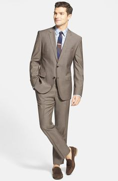 BOSS HUGO BOSS Wool & Mohair Suit, Stretch Cotton Sport Shirt available at #Nordstrom