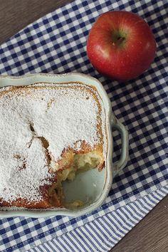 Apfel-Pfannkuchen aus dem Ofen