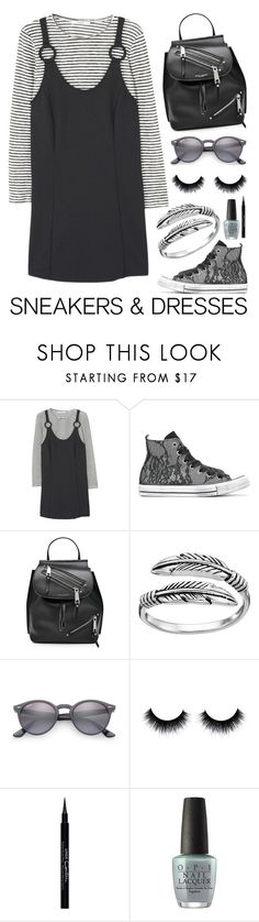 """Untitled #67"" by iheartevergreens on Polyvore featuring MANGO, Converse, Marc Jacobs, Primrose, Ray-Ban, Givenchy and OPI"