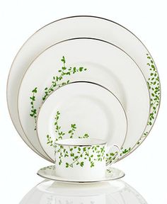 kate spade new york Gardner Street Green Dinnerware Collection - Fine China - Dining & Entertaining - Macys