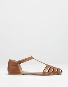 LEATHER STRAP SANDALS - Pull and Bear