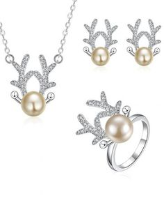 GET $50 NOW | Join RoseGal: Get YOUR $50 NOW!http://www.rosegal.com/necklaces/rhinestone-christmas-elk-jewelry-set-864676.html?seid=7754273rg864676