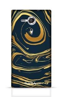 Hand Drawn Marbling Illustration Gold 2 Sony Xperia SP Phone Case