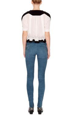 Blue Suede Eydie Skinny Pants by Isabel Marant Now Available on Moda Operandi