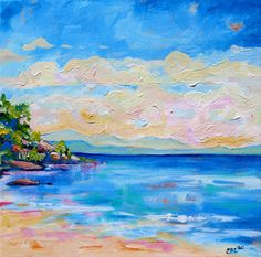 """Cockle Bay - Queensland Landscape Painting"" by Eve Izzett. Paintings for Sale. Bluethumb - Online Art Gallery"