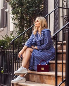 View our Pinstripe High Low Shirtdress and shop our selection of designer women's plus size Dresses, clothing and fashionable accessories. Plus Size Skirts, Plus Size Outfits, Plus Size Fashion, Midi Skirt, Fashion Accessories, Shirt Dress, Studio, Elegant, High Low