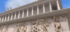 Günümüzde Berlin'de Pergamon Müzesi'nde bulunan bu sunağın yalnızca temel kalıntıları Bergama'dadır. Antik Pergamon'un akropolünde bulunan bu sunak Pergamon Kralı II. Eumenes'in (MÖ.197-MS.160) Seleukos Kralı III. Antiochos'a ve Galatlara karşı kazandığı zaferin anısına yaptırılmıştır. Sunak ayrıca Mitoloji Tanrılarından Zeus ile Athena'ya adanmıştır. Helenistik dönemdeki Pergamon'un en görkemli anıtlarından olan bu sunak ile ilgili bilgiler Romalı Lucius …