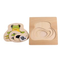 Life Cycle of Frog Wooden Puzzle Montessori Scienc