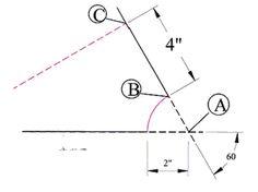 Elbow tutorial  figure 3 Sheet Metal Drawing, Sheet Metal Fabrication, Metal News, 60 Degrees, Headers, Pipes, Change, Pipes And Bongs, Trumpets