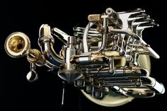 Rotary-Valve Piccolo in B/A Trombone, Brass Music, Trumpet Music, Sound Sculpture, Brass Instrument, Trumpet Players, Strange Music, French Horn, Musicals