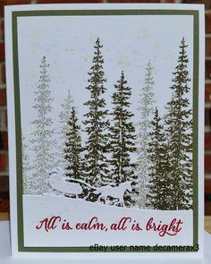 Christmas card kit & gift tags set of 4 handmade stampin' up wonderland