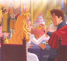 Aurora's Royal Wedding. Written by John Edwards and Illustrated by the Disney Storybook Art Team. Disney Pixar, Disney Au, Walt Disney Characters, Disney Fan Art, Disney Dream, Cute Disney, Aurora Disney, Disney Princess Dresses, Princess Aurora