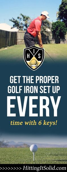 If you want to know how to get the proper golf iron set up you need to have the right information. Learn how to get into the proper golf iron set up with these 6 keys that are simple to implement every time. Golf Card Game, Golf Handicap, Golf Chipping Tips, Dubai Golf, Golf Ball Crafts, Golf Holidays, Golf Club Grips, Golf Putting Tips, Golf Club Sets