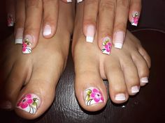 Cute Pedicure Designs, Toe Nail Designs, Toe Nail Color, Toe Nail Art, Cute Toe Nails, Pretty Nails, Cute Pedicures, Blue Acrylic Nails, Pedicure Nail Art