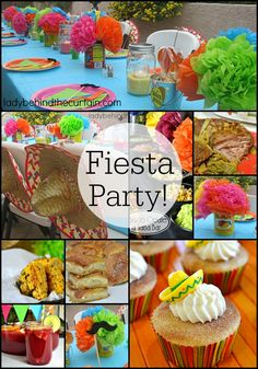 Fiesta Party | Delicious food and fun decorations was the theme of this Mexican party.  Perfect for birthday parties, a wedding reception or Cinco de Mayo!