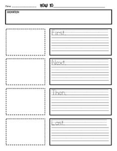 How To Writing Paper Template - MyFirstGradeHappyPlace - TeachersPayTeachers.com