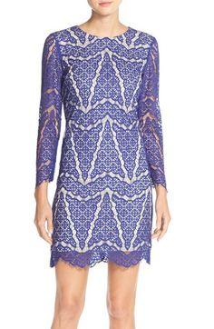 Maia Lace Overlay Sheath Dress