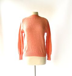"""1950s ROSE HEATHER """"Shaggy Mist"""" wool sweater with bateau neck, by Garland"""