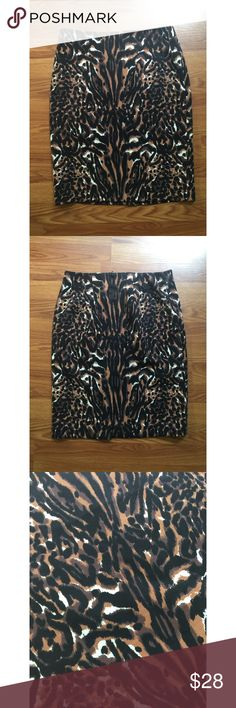 """🎈30% off Bundles🎈Animal Print Pencil Skirt Gorgeous animal print pencil skirt from Talbots. Skirt is fully lined and has an invisible zipper in the back. Waist measures 14.75"""" flat, skirt is 21.5"""" long in length. Talbots Skirts Pencil"""