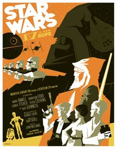 Star Wars IV A New Hope by Tom Whalen