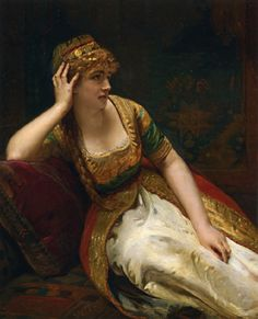 Henri-Guillaume Schlesinger A Harem Beauty hand painted oil painting reproduction on canvas by artist Classic Paintings, Beautiful Paintings, European Paintings, Image Blog, Oil Painting Reproductions, Rococo Painting, Classical Art, Art Plastique, Female Art
