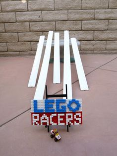 A different Lego racers game for a Lego party - from blissbloomblog.com