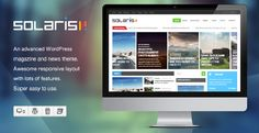 Discount Deals Solaris - Responsive WordPress Magazine Themeonline after you search a lot for where to buy Responsive Slider, Responsive Layout, Blog Websites, Website Themes, Wordpress Template, News Magazines, New Theme, Premium Wordpress Themes, Solar Energy