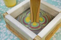 Column Swirl Soap Recipe, great recipe with photos of step by step instructions, site has other recipes too!!