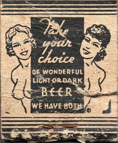 light or dark beer
