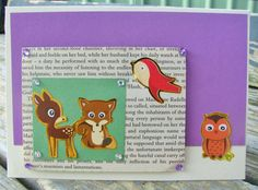 Woodland Creatures handmade card any occasion by RogueKissedCraft Owl Card, Woodland Creatures, Awesome, Handmade Gifts, Cards, Etsy, Vintage, Kid Craft Gifts, Craft Gifts