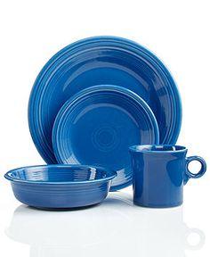 Fiesta Dinnerware, Lapis 4 Piece Place Setting - Casual Dinnerware - Dining & Entertaining - Macy's