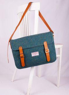 Tweed Schulranzen // tweed schoolbag by breagha via DaWanda.com