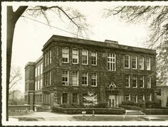 Tupper Hall (New) in spring :: Ohio University Archives