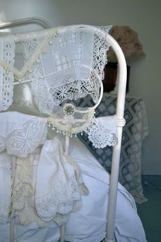 Iron Bed with LACE...<3